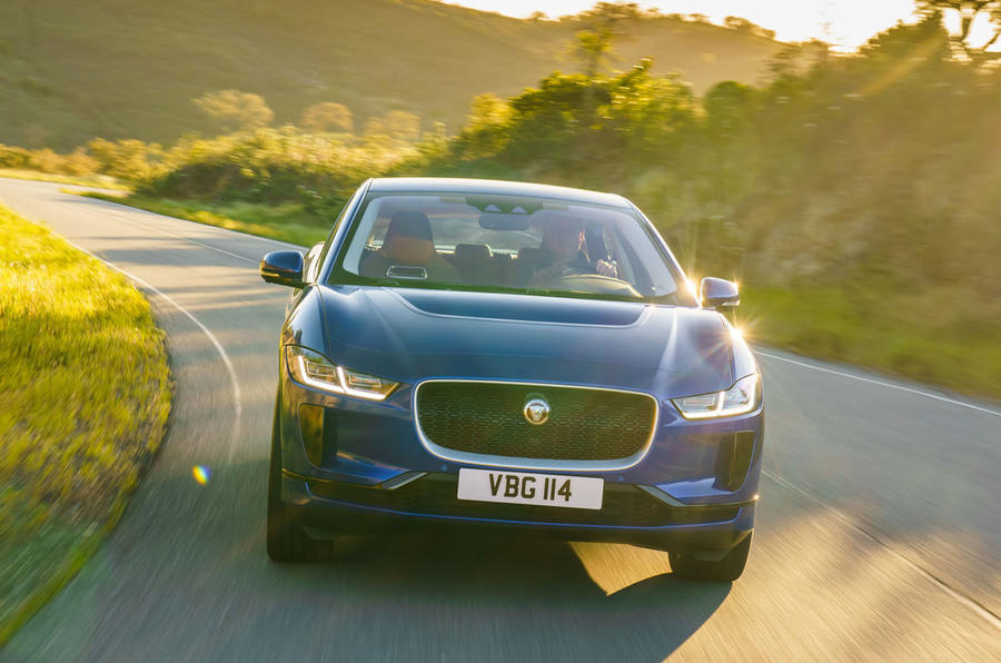 Jaguar I-Pace 2018 review on the road front
