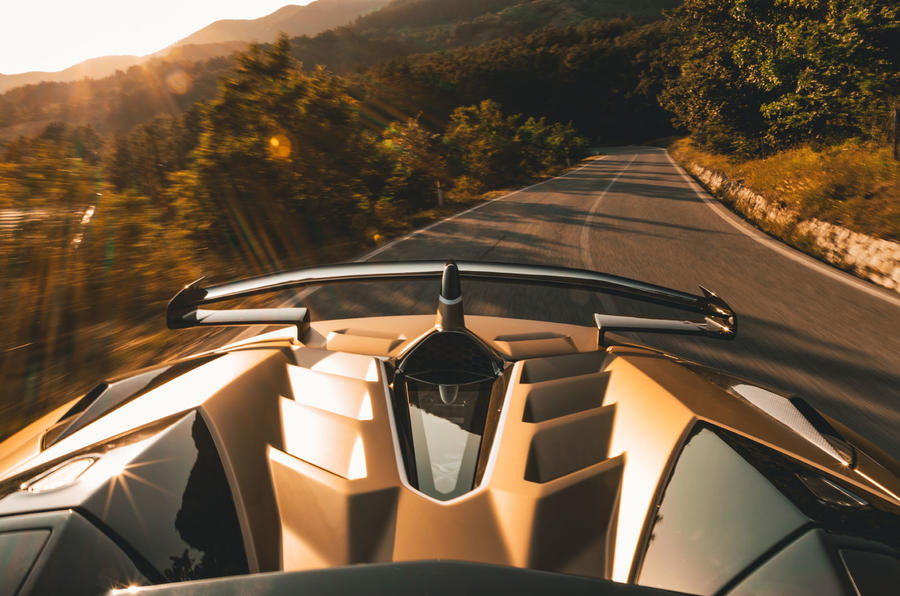 Lamborghini Aventador SVJ Roadster 2019 first drive review - on the road spoiler