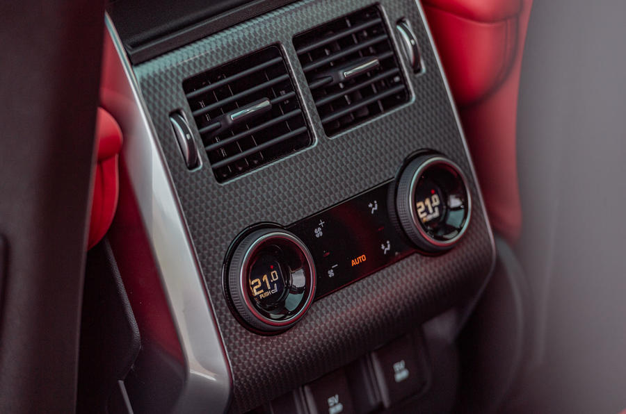 Land Rover Range Rover Sport HST 2019 UK first drive review - rear climate controls