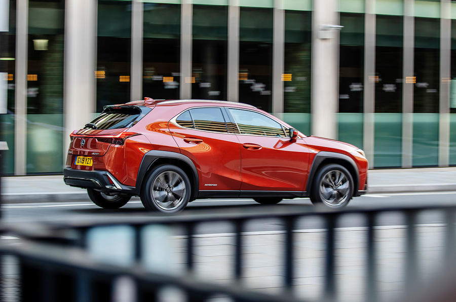 Lexus UX 2019 UK first drive review - on the road rear