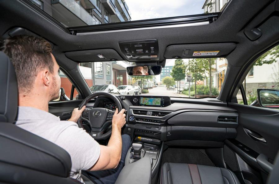 Lexus UX 250h F Sport 2018 first drive review Dan Prosser driving