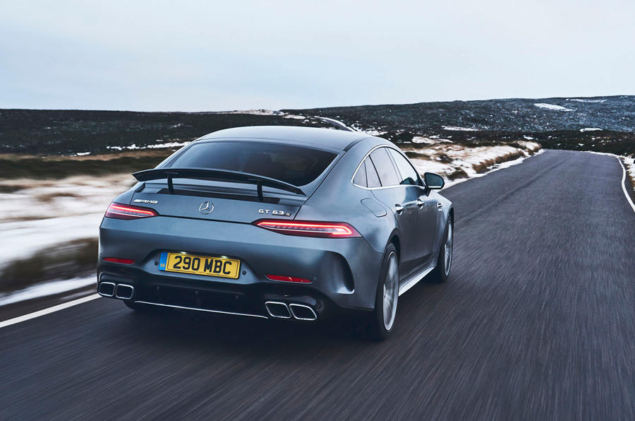 mercedes amg gt 63 s 4 door coup 2019 uk review autocar. Black Bedroom Furniture Sets. Home Design Ideas
