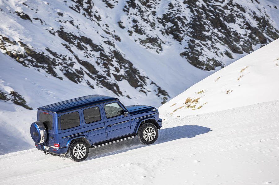 Mercedes-Benz G-Class G350d 2018 first drive review - static snow