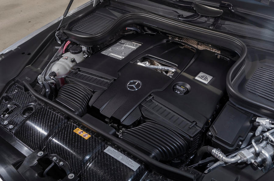 Mercedes-Maybach GLS 600 2020 first drive review - engine