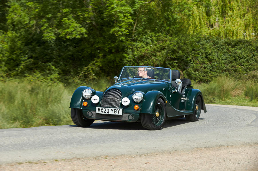 Morgan Plus Four 2020 UK first drive review - cornering front