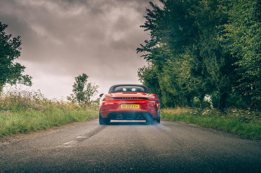 Porsche 718 Boxster GTS 4.0 2020 UK first drive review - burnout