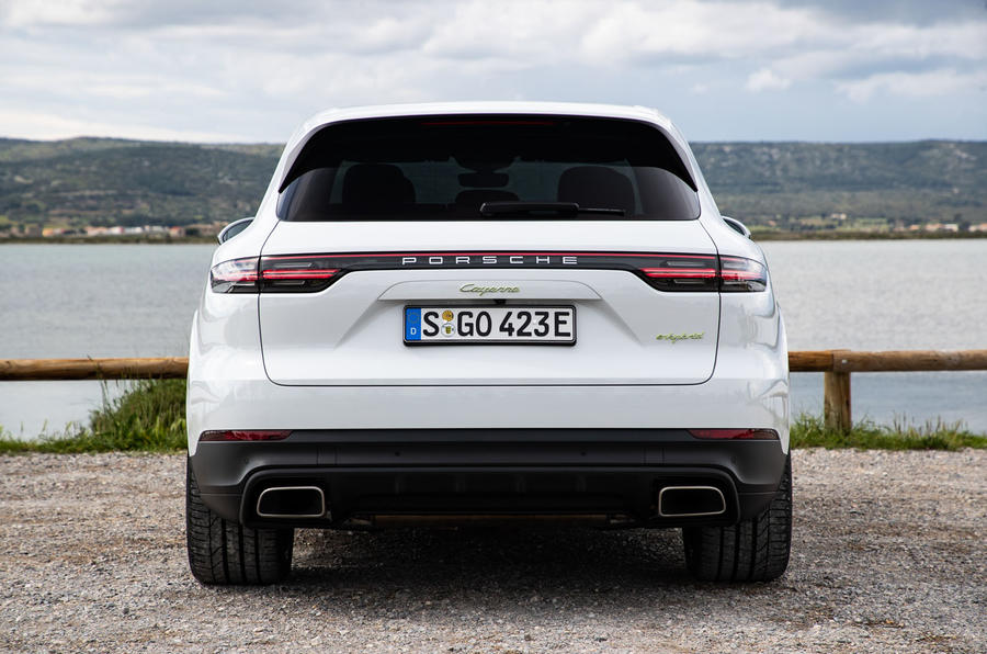 Porsche Cayenne E-Hybrid 2018 review static rear