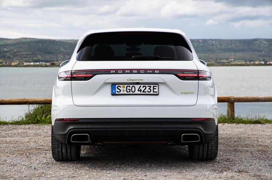 Porsche Cayenne E-Hybrid 2018 review static rear