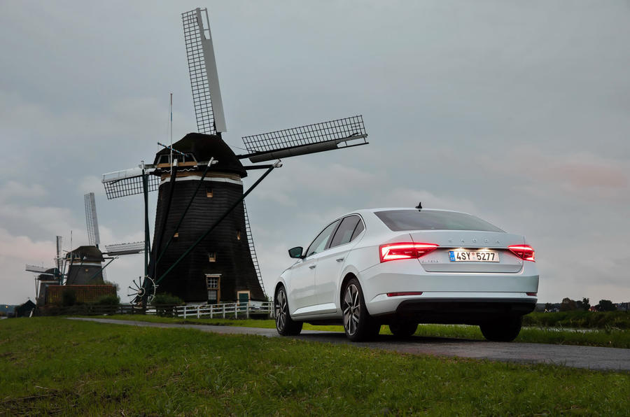 Skoda Superb iV 2020 first drive review - static rear