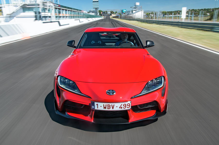 Toyota GR Supra 2019 first drive review - track nose