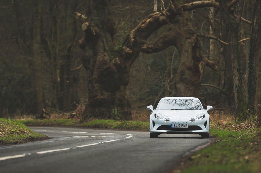 Alpine A110 Pure 2019 UK first drive review - on the road front