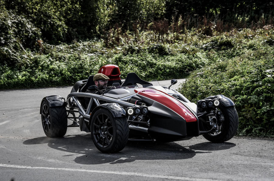Ariel Atom 4 2018 first drive review cornering front