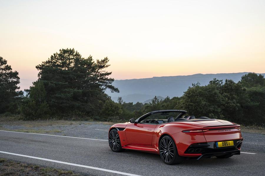 Aston Martin DBS Superleggera Volante 2019 first drive review - static rear