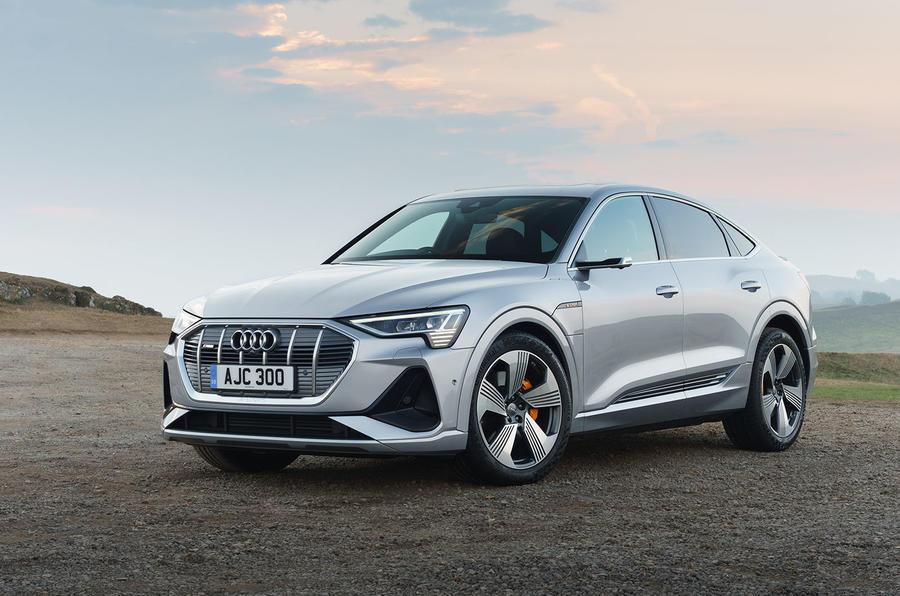 Audi E-tron Sportback 55 2020 UK first drive review - static