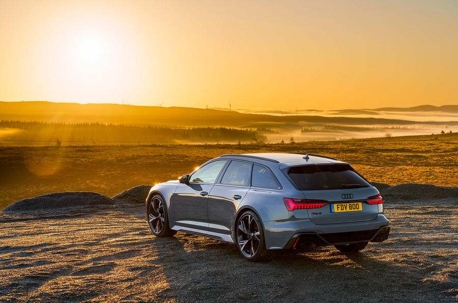 Audi RS6 2020 UK first drive review - static rear