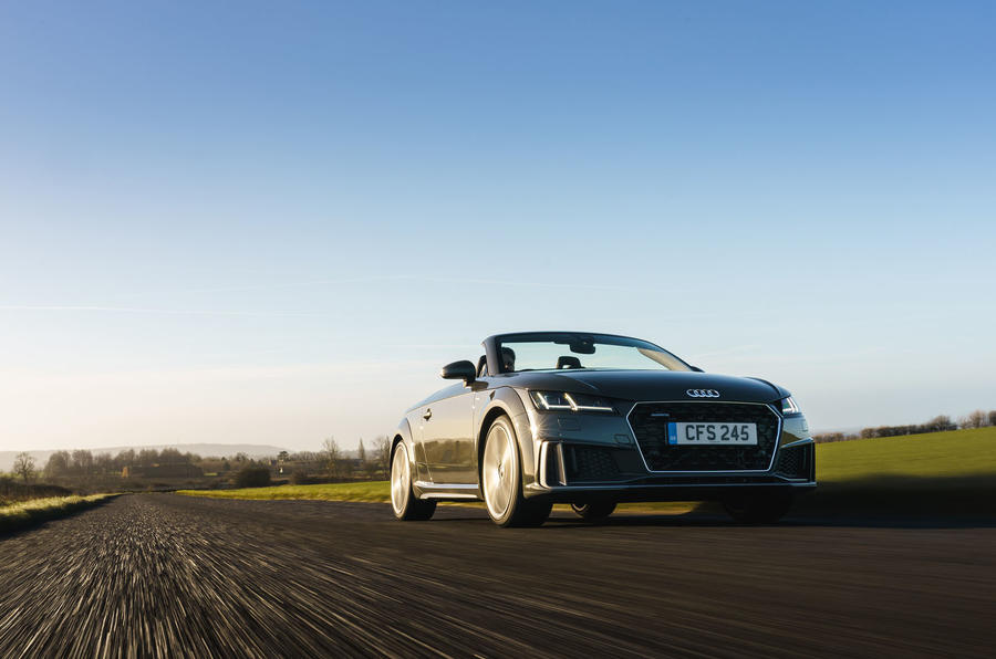Audi TT Roadster 2019 UK first drive review - on the road front