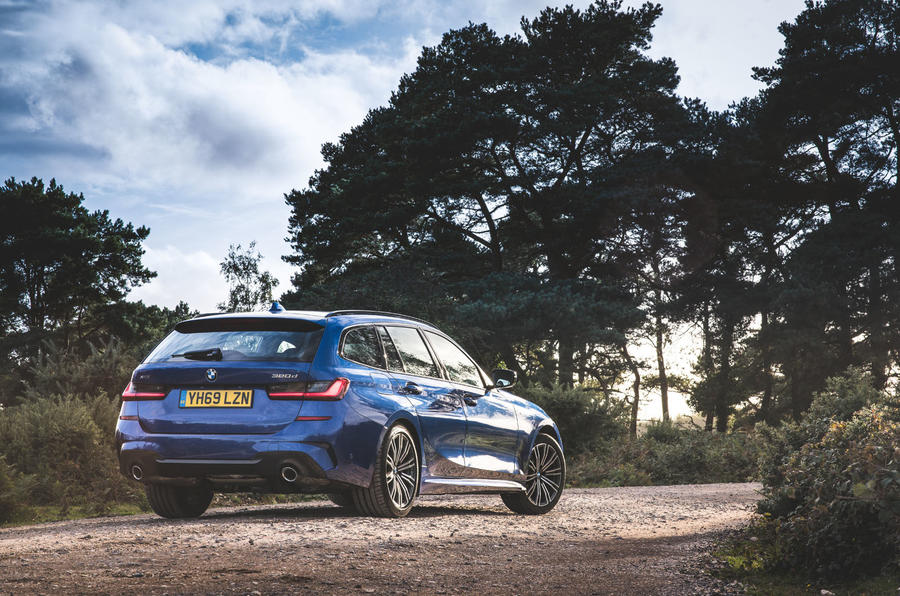 BMW 3 Series Touring 320d 2019 UK first drive review - static rear