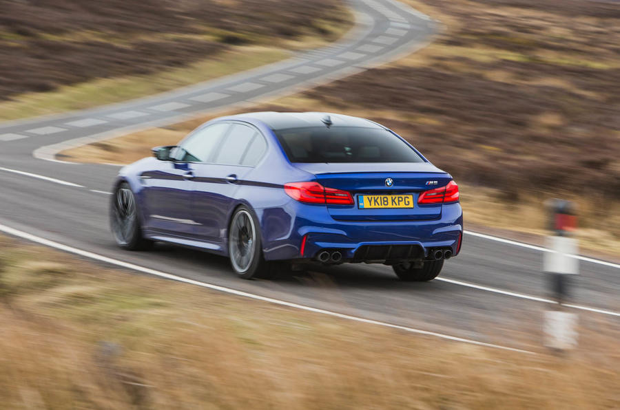 BMW M5 2018 long-term review cornering rear