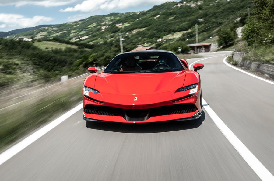 Ferrari SF90 Stradale 2020 first drive review - on the road nose