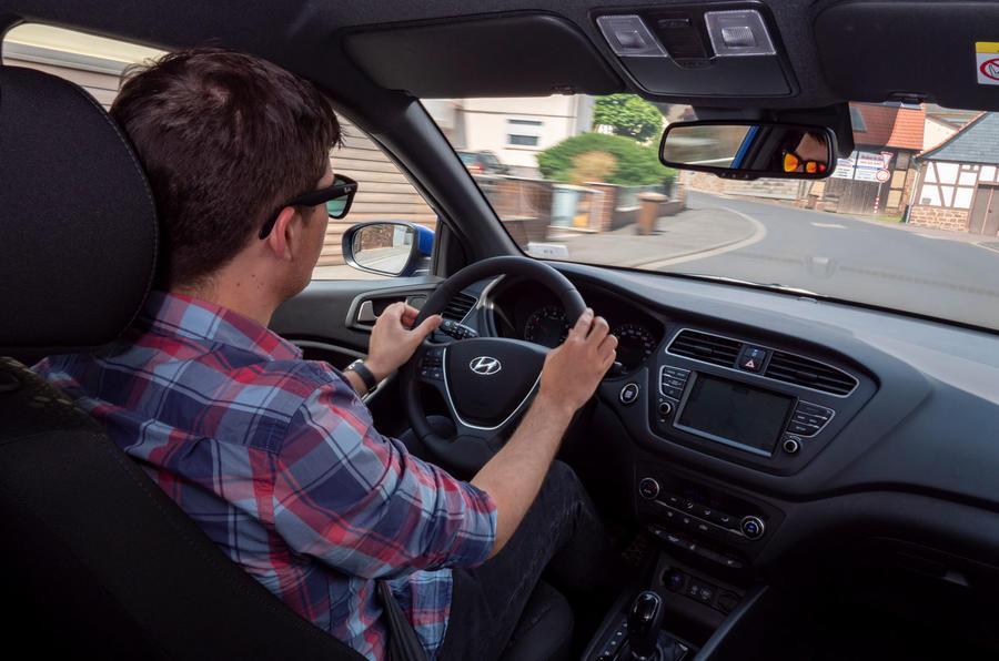 Hyundai i20 2018 review Tom Morgan driving