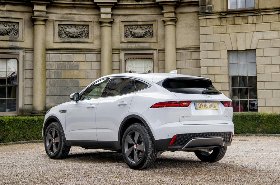 Jaguar E-Pace D150 2018 review static rear