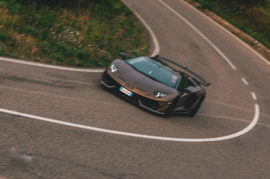 Lamborghini Aventador SVJ Roadster 2019 first drive review - cornering