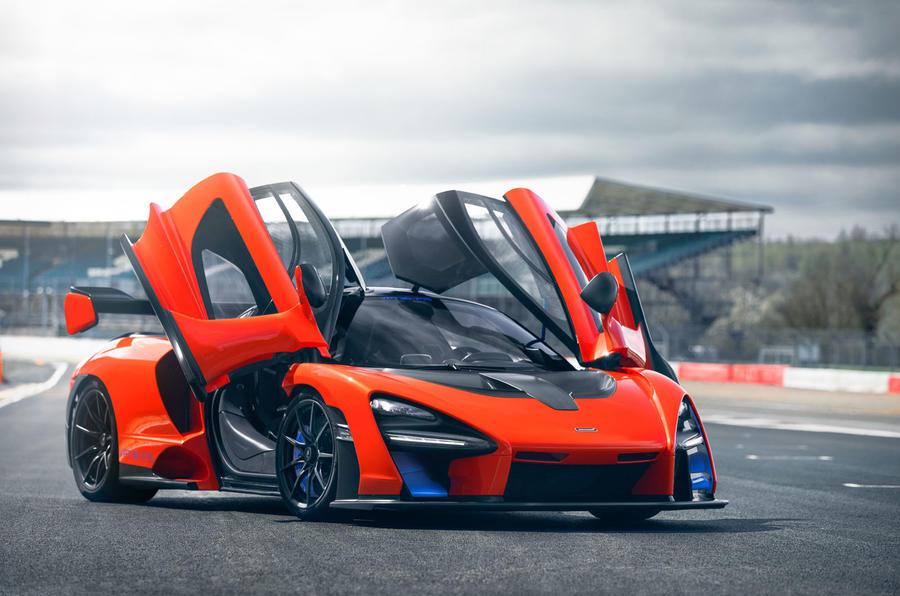 McLaren Senna 2018 UK first drive review static doors open