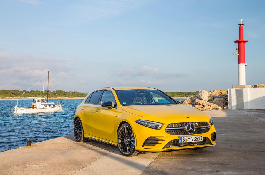 Mercedes-AMG A35 2018 first drive review - static front