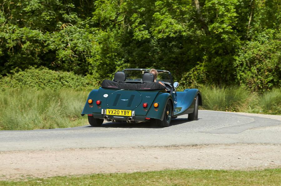 Morgan Plus Four 2020 UK first drive review - cornering rear