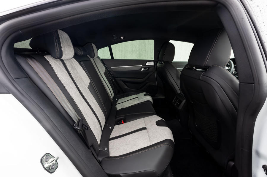 Peugeot 508 Hybrid4 2020 first drive review - rear seats