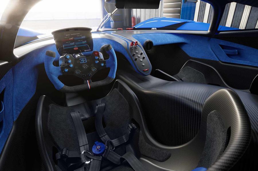 Bugatti Bolide cabin