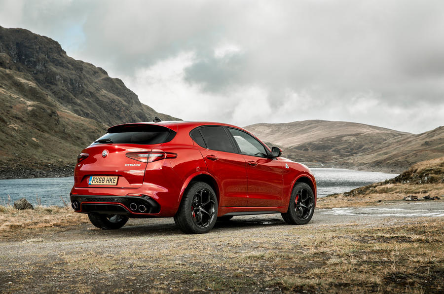 Alfa Romeo Stelvio Quadrifoglio 2018 UK RHD first drive - static rear
