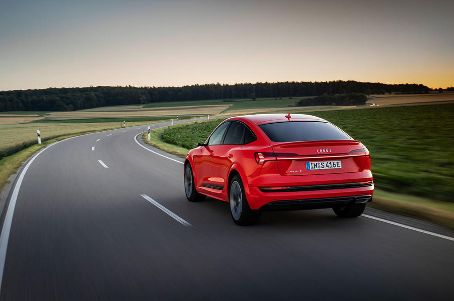 Audi E-tron S Sportback 2020 first drive review - on the road rear