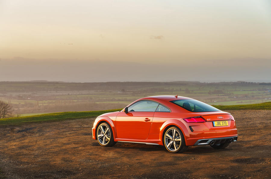 Audi TT Coupe 2019 UK first drive review - static rear