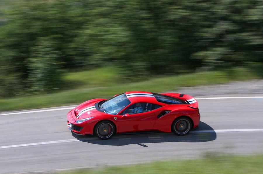 Ferrari 488 Pista 2018 review on the road left
