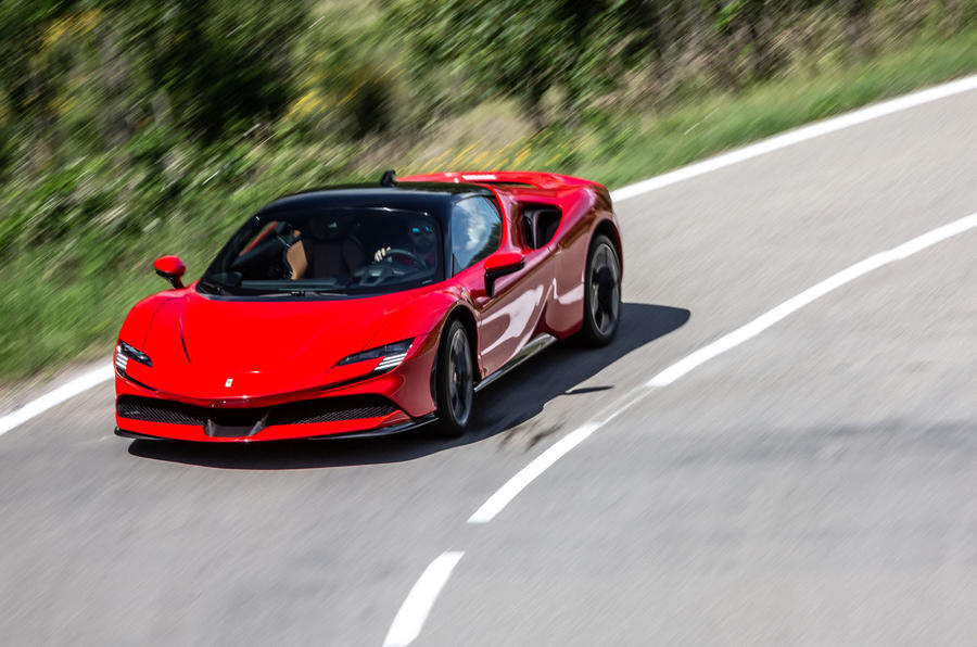 Ferrari SF90 Stradale 2020 first drive review - on the road cornering front