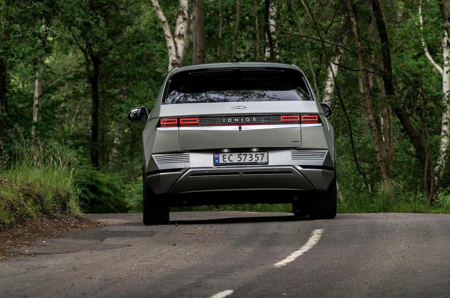 24 Hyundai Ioniq 5 2021 FD plaques norvégiennes d'angle arrière