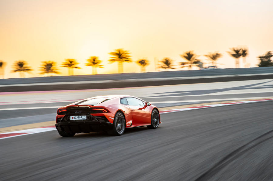 Lamborghini Huracan Evo 2019 first drive review - track rear