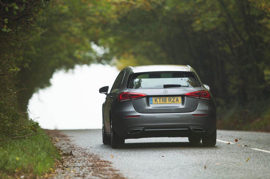 Mercedes-Benz A-Class 2018 long-term review - on the road rear
