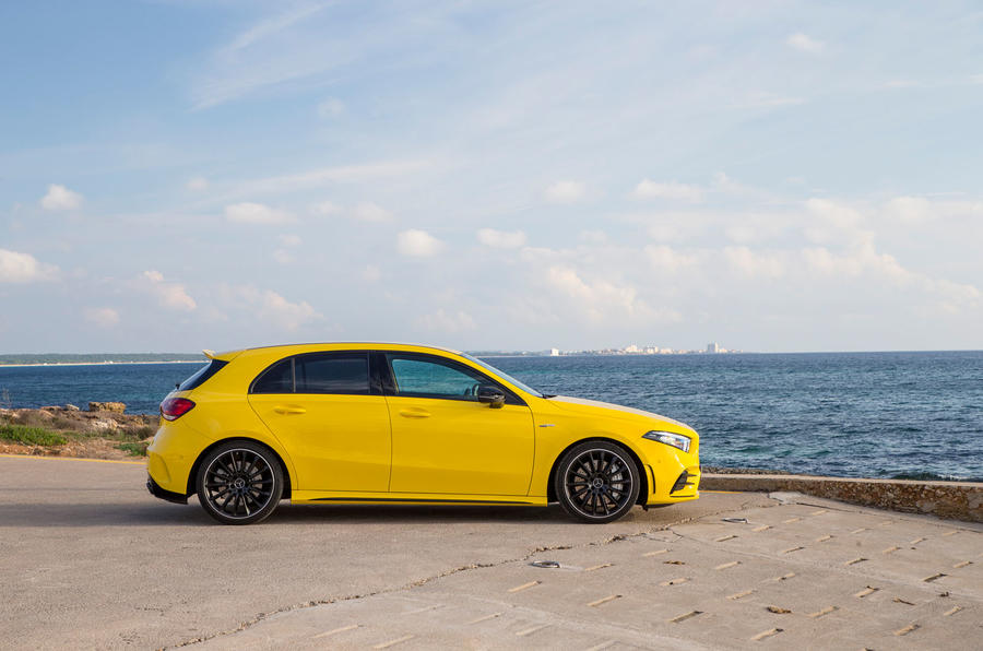 Mercedes-AMG A35 2018 first drive review - static side