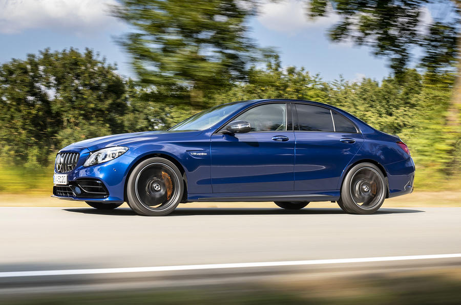 Mercedes-AMG C63 2018 first drive review on the road side