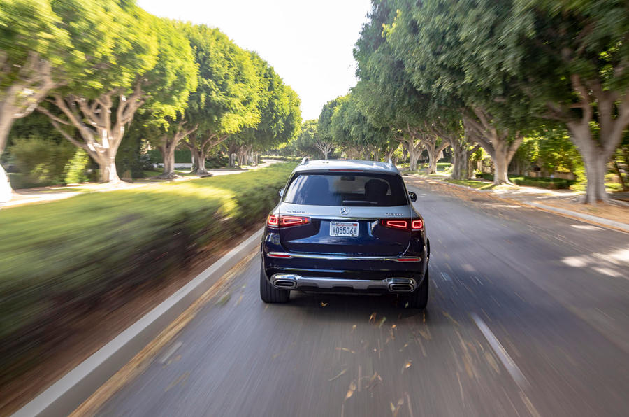 Mercedes-Maybach GLS 600 2020 first drive review - on the road rear