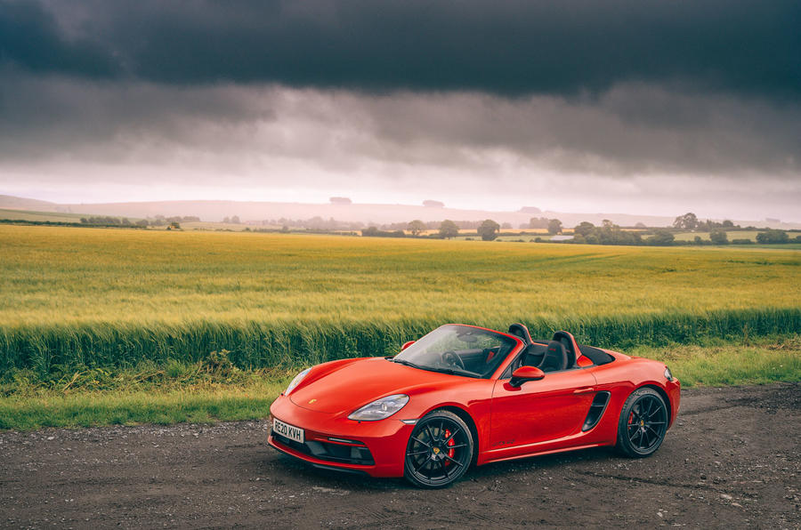 Porsche 718 Boxster GTS 4.0 2020 UK first drive review - static front