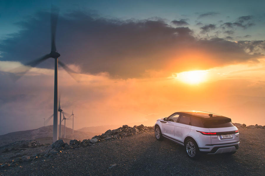 Range Rover Evoque 2019 first drive review - static rear