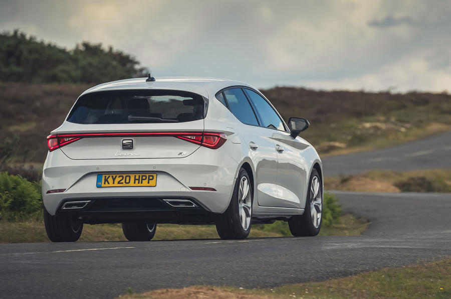 Seat Leon 2020 UK first drive review - on the road rear