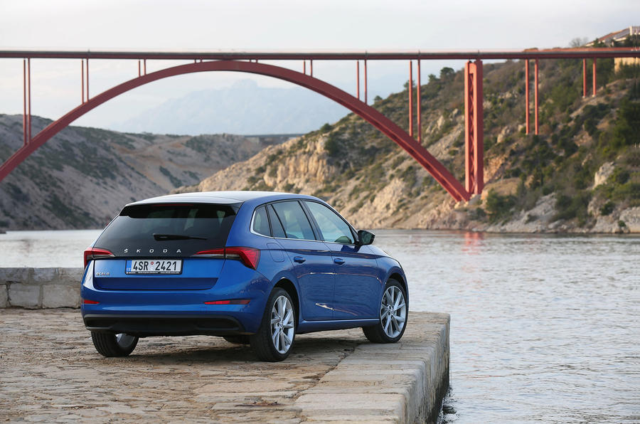Skoda Scala 2019 first drive review - static rear