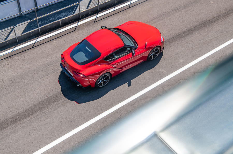 Toyota GR Supra 2019 first drive review - track static roof