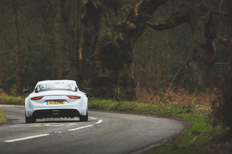 Alpine A110 Pure 2019 UK first drive review - on the road rear