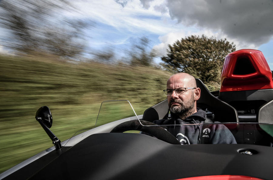 Ariel Atom 4 2018 first drive review Matt Prior driving front