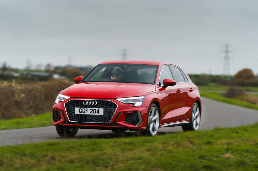 Audi A3 TFSIe 2020 UK first drive review - cornering front